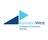 logo for business west, two sideways blue triangles